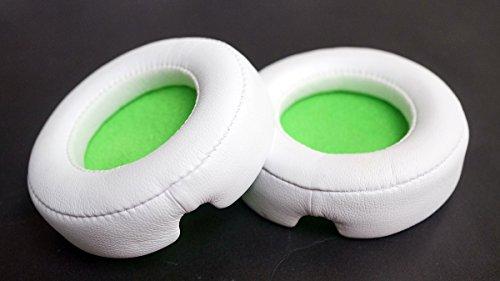 1Paar Ersatz-Ohrpolster Ohrpolster Leder Kissen Ersatzteile für Beats Mixr/Monster Beats Mixr Kopfhörer Ohrenschützer Kissen (fluoreszierend grün) (Beats Grün Ersatzteile)
