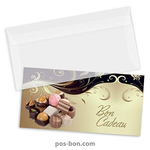 50 Bons cadeaux + 50 enveloppes pour confiseries, chocolatiers FK9310F