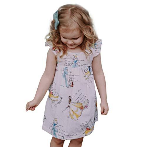 Baby Kleid Sasstaids Mädchen Kleid Kleinkind scherzt Baby Kleidungs Karikatur Prinzessin Sleeveless Dress Outfits Gekräuselten Kleid Cartoon Prinzessin Kleid