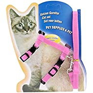 Icecode Cat Harness Kitten Lead Nylon Strap Belt Leash Adjustable Set of Kitten strap (Pink)