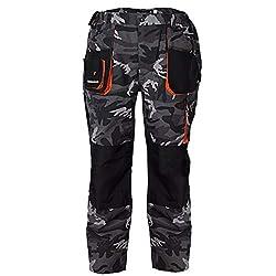 Terratrend Job 3230-46-6210 Size 46 Men's trousers - Camouflage / gray / black