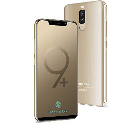 Smartphone Pas Cher 4G S9+(Écran:5.84 Pouces - 3GB RAM+16GB ROM - Téléphone Débloqué 4300mAh Batterie 13MP Camera Double SIM - Android 8.1 Quad Core Téléphone Portable Pas Cher sans Forfait) (Or)