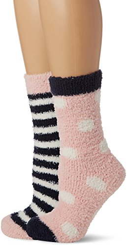 Joules Women's Fab Fluffy Shortie Slipper Socks, 100 Den
