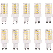 Paquete de 10 bombillas LED G9 de 10W equivalentes a halógenos de 150W, 86 piezas
