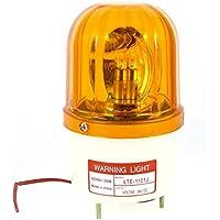 Industrial DC 24V Destello Sirena Emergencia Rotativo Advertencia Amarillo Claro