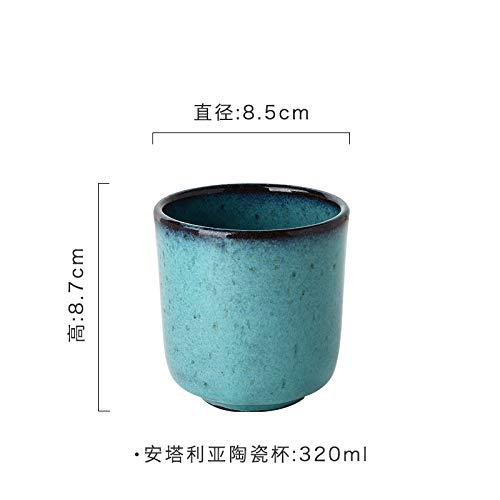 XLCLSA asda Vaisselle en céramique Plat Bols ustensiles à Boire Maison rétro Restaurant Plats Tasses Tasses et sous-Tasses Tasses
