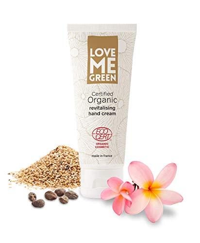 Organic revitalising hand cream, ohne Silikone oder Parabene, ECOCERT greenlife zertifiziert, made in France