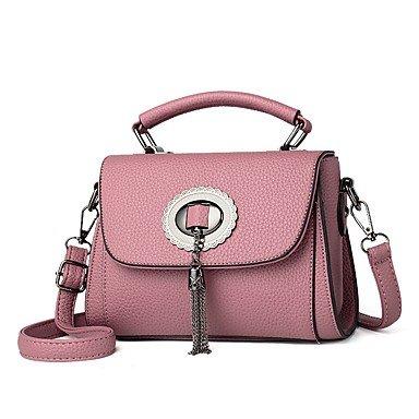 Damenmode PU Leder Schulter Messenger Crossbody Mini/Tasche Handtasche Tote Blushing Pink