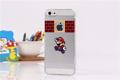 Handyschutz Disney Cartoon und Superheld, weicher Kunststoff, transparent, für Apple iPhone 5/5S/ 6/ 6 Plus, plastik, SNOOPY, Apple iPhone 5/5S MARIO1