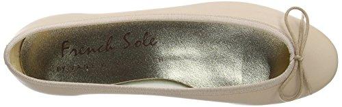 French Sole Henrietta Plain Leather, Ballerines femme Beige - Chair
