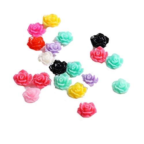 Mxdmai Nuevos 20pcs colorido uñas acrílico 3D flor