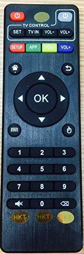 Fernbedienung Controller für MXQ Pro T10Quad Core Android TV Box vollständig geladen Streaming Media Player mit viel Gratis (Motiv und TV, bulid-in neuestem Kodi (XBMC), Android 4.4kitkt, CPU Amlogic S805, 1,5GHz