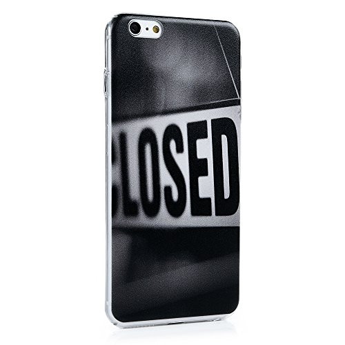 YOKIRIN Coque pour iPhone 6 / iPhone 6S Coque de Protection Transparent - Phone Case PC Couverture Complète Dessin Coloré - Bouche Closed