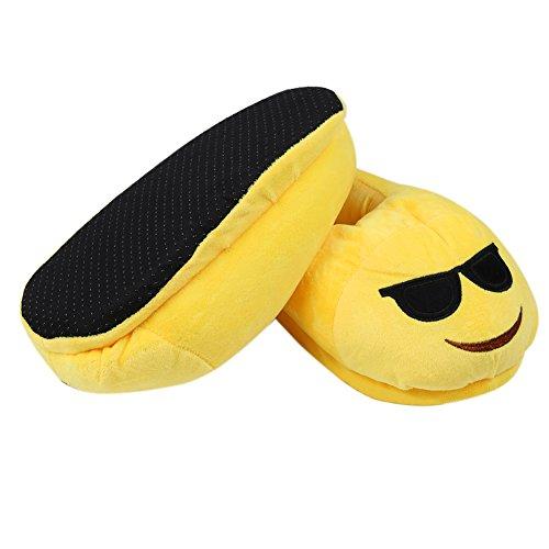 HMMJ Cartoon peluche Slipper Espressione pantofole, Inverno Caldo Casa antiscivolo Scarpe Unisex (Cacca) Occhiali da sole