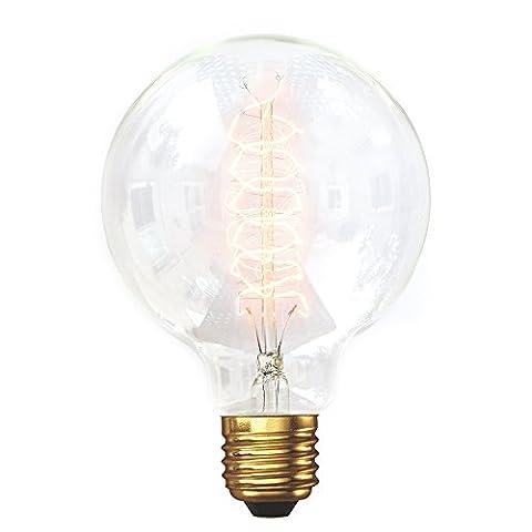 G95Medium Globe Spirale Loop Filament Vintage Glühlampe