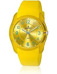 Radiant RA191602 - Reloj con correa de piel para hombre, color amarillo / gris