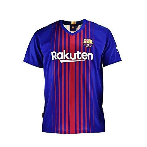 Camiseta 1ª Equipación Replica Oficial FC BARCELONA 2017-2018 Sin Dorsal LISO - Tallaje ADULTO (S)