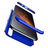 Cover Oppo Realme 3 PRO 2018,Cover TPU S7 Edge Ultra Sottile Silicone Cover,360° della Copertura Completa Protettiva Case 3 in 1 Guscio Compatibile Samsung S7 Edge Blu +3D Vetro Temperato