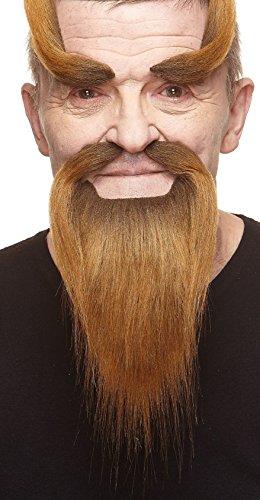 Mustaches Brauner Shaolinmönchs fälschen, selbstklebend Bart, Schnurrbart und Augenbrauen (Halloween Medizinische Witze)