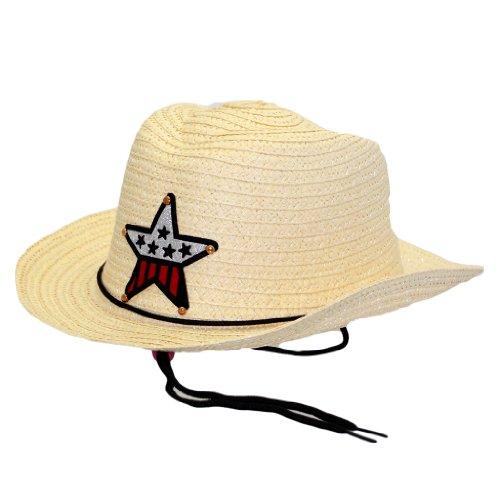 Modischer Cowboy Hut Cowboyhut Westernhut Mit Stern Texas Western Style in (Cowgirls Für Frauen Kostüme)