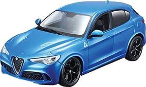 Bburago-Alfa Romeo Stelvio en Color Azul y en Escala 1:24 (18-21086B)