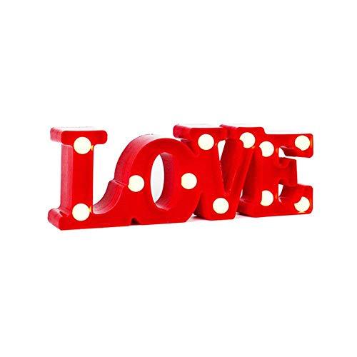 Don Letra - Lámparas Decorativas de Love Decoración Iluminación Lámpara de Mesa...
