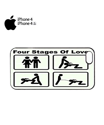Four Stages of Love Mobile Cell Phone Case Cover iPhone 5c Black Noir