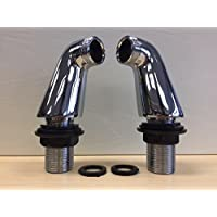 Coppia di miscelatore per vasca da bagno a colonna estensione gambe adattatore rubinetto per doccia in ottone cromato