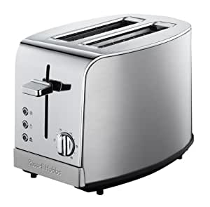 Russell Hobbs 1811656 Grille-Pain à 4 Fonctions 2 Fentes Larges Design Inox 1100 W