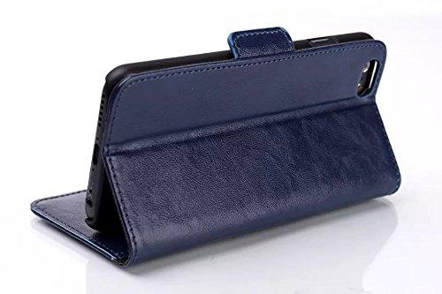 """inShang iPhone6 Coque 4.7"""" Housse de Protection Etui pour Apple iPhone 6 4.7 Inch, le style Folio cuir PU de premiere qualite, + Qualite Pens Haute Stylet capacitif Oil-pull blue"""