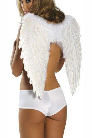 (Kleidung Zubehör_Cosplay Cupid Devil Angel Kostüm Zubehör Flügel White One Size)