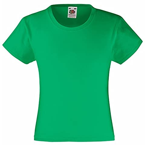 Fruit of the Loom Girls Value T-shirt Kelly 7-8