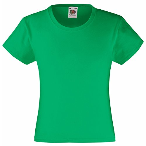 Fruite of the Loom Mädchen Valueweight T-Shirt, vers. Farben Kelly