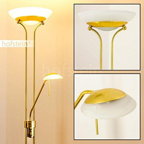 LED Deckenfluter Biot Farbe messing 1 x 18 Watt 1600 Lumen und 1 x 5 Watt 450 Lumen 3.000 Kelvin warmweiss