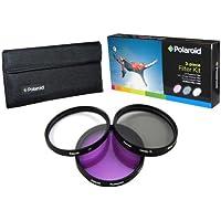 Polaroid Optics Ensemble de 3 filtres 55 mm (UV, CPL, FLD)