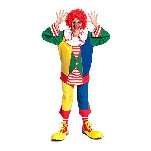Kostümplanet® Clown-Kostüm Damen witzig buntes Clowns-Kostüm große Größen ()