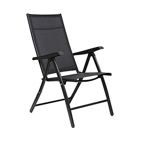 HomeTown Jet Folding Chair (Black)