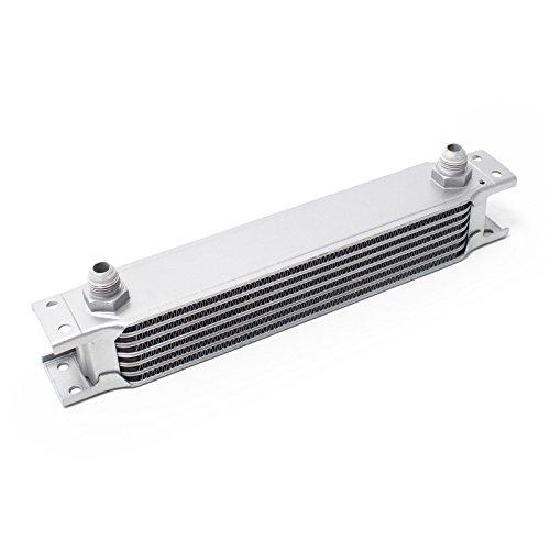 WilTec Radiatore dell'olio Universale Alluminio 7 File Alette per Raffreddamento Olio Moto