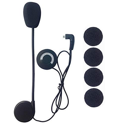 FreedConn Auriculares Para Casco Moto Micrófono Altavoz duro cable de los auriculares...