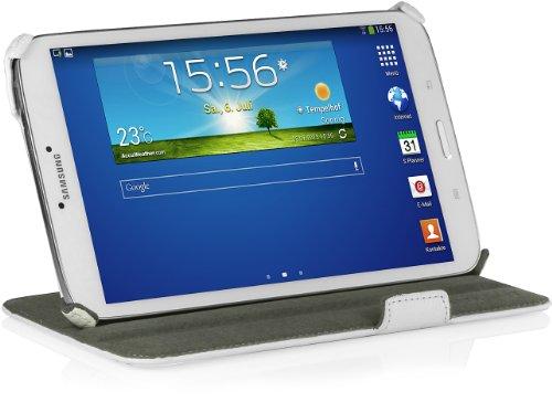 StilGut® UltraSlim Case V2, Tasche mit Stand- und Präsentationsfunktion für Samsung Galaxy Tab 3 8.0, weiß
