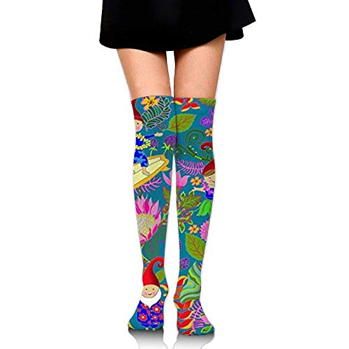 No Soy Como Tu Hohe Socken Hawaiian Garden Gnomes Upgraded Knee High Graduated Compression Socks for Women and Men - Best Medical,Nursing,Travel & Flight Socks - Running & Fitness -