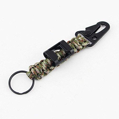 ROBAG 2pcs 2pcs Climbing Camping Siete Core Rope Knitting Olecranon abrelatas Llavero Kit de ahorro de vida , olive