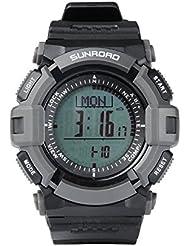 Sunroad FR821A 3ATM,–Altímetro, Barómetro, Brújula Hora Mundial, podómetro, contador de calorías, reloj de deportes, color de luz