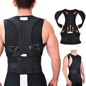 RIRGI Geradehalter zur Haltungskorrektur Haltungstrainer Rückentrainer Rückenstütze für bessere Körperhaltung geraden Rücken gegen Nacken- und Schulterschmerzen für Damen Herren