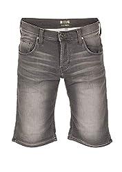 MUSTANG Herren Jeans Short Chicago - Schwarz - Black Denim, Größe:W 30, Farbe:Denim Black (313)