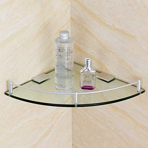 ✨ Badezimmer-Eck-Badregal Aluminium-Außeneinzelschicht-Dusch-Eckregal 7mm emperiertes Glas 4.4 (größe : 250mm) - Eck-glasregal Satiniert