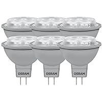 Confronta prezzi Osram, Faretto LED dimmerabile Superstar MR16 35 advanced, 5.9W (equivalenti a 35W), attacco Gu5,3, luce extra calda (827), 50 mm, 12 Volt, angolo di diffusione 36°, 882349, 6 pz. - Trova i prezzi più bassi