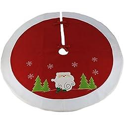 Wewill Marca Albero di Natale gonna Cerchio Decorazione festiva Babbo Scena del pupazzo di neve Albero Gonna