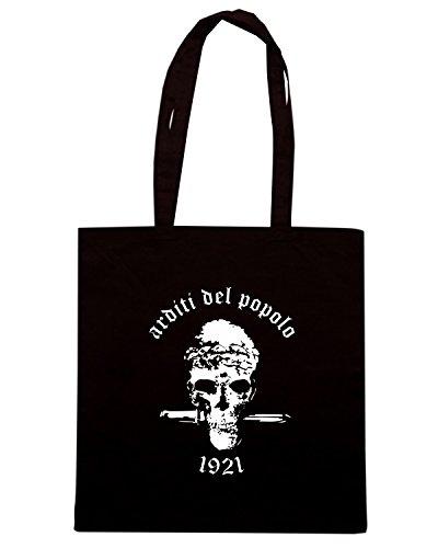 T-Shirtshock - Borsa Shopping T0819 arditi del popolo militari Nero