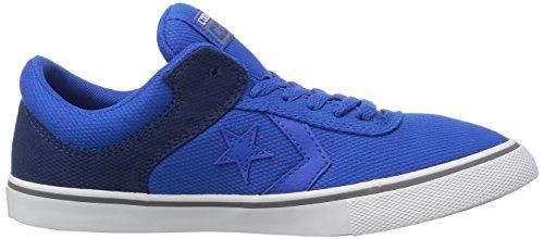 Converse Aero S Ox, Baskets mode mixte enfant Bleu (Bleu/Noir)
